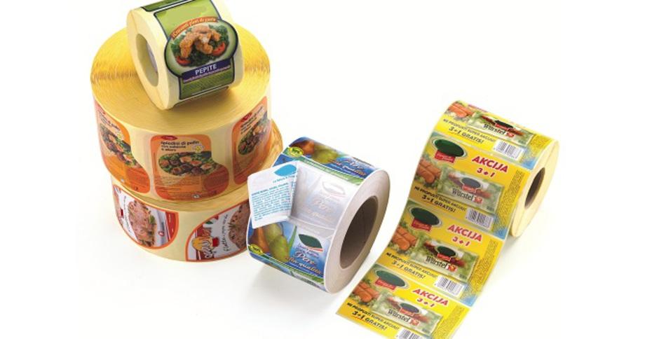 etichette adesive, materiale plastico, prestampate personalizzate