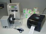 scansione marchio cliente, stampa trasferimento termico, etichette piccole alte tirature